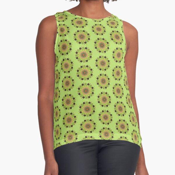 Mandala fleur, vert Sleeveless Top