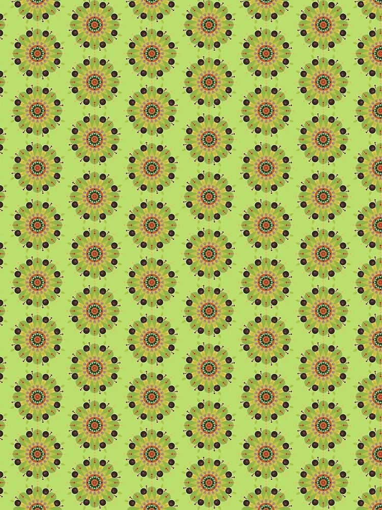Mandala fleur, vert by RosaLeeDesign