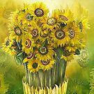 Sunflower Bouquet by Carol  Cavalaris