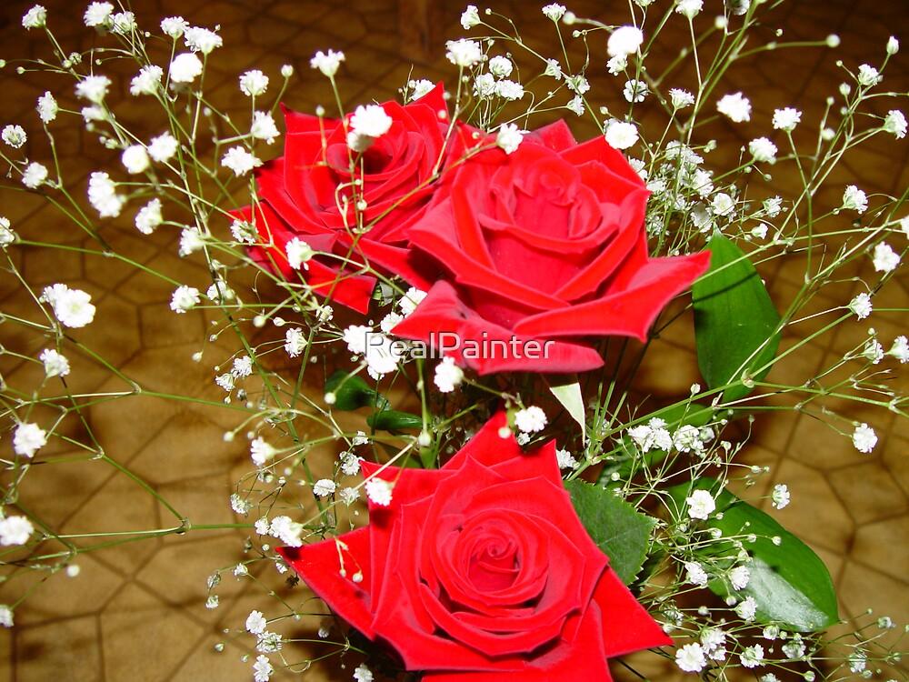 NOT Velvet Just Real RED roses......... by RealPainter