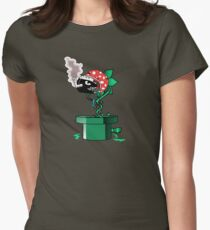 Piranha Bites The Bullet Womens Fitted T-Shirt