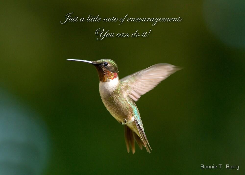 Encouragement by Bonnie T.  Barry