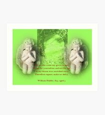 Weep Not for Me Art Print