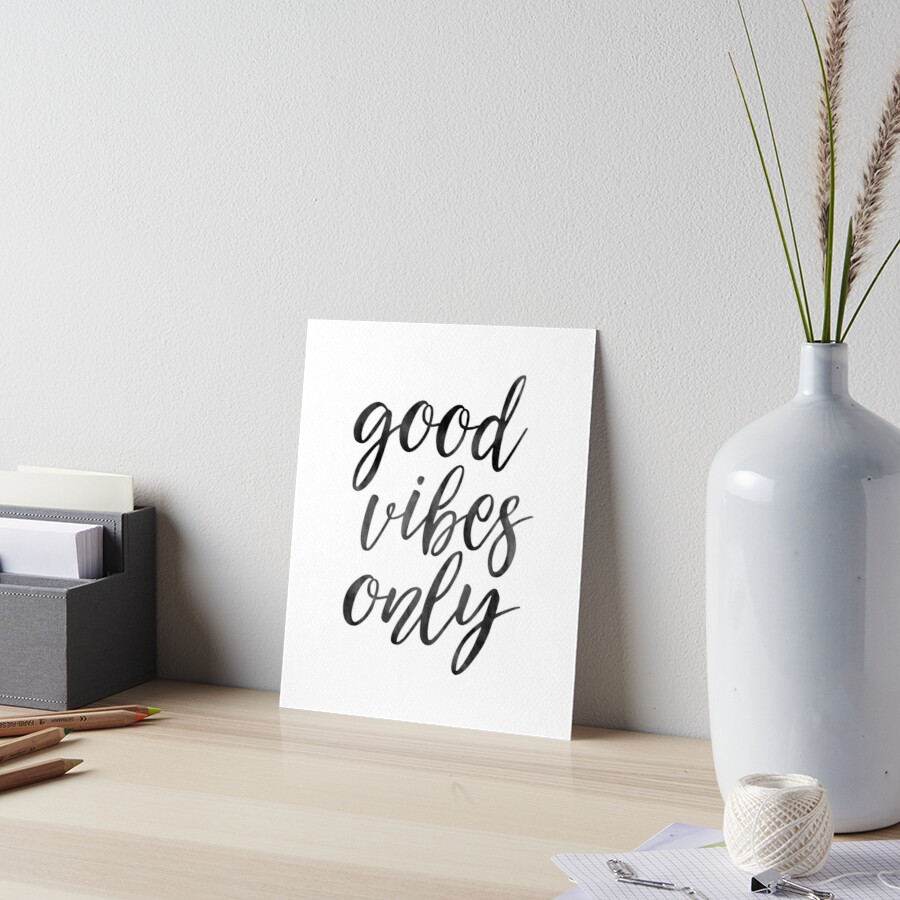 """""""GOOD VIBES ONLY, Home Decor,Living Room Decor,Positive"""