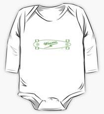 Skate Wausau - Neon Green Long Sleeve Baby One-Piece