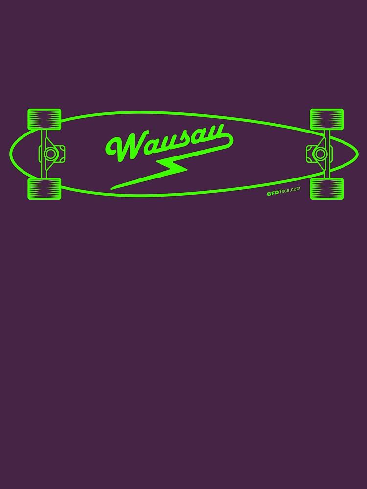 Skate Wausau - Neon Green by bigfatdesigns