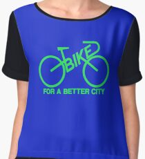 BIKE FOR A BETTER CITY - Green  Logo Collection - Vintage logo 1970 Bike Lobby New York City Women's Chiffon Top