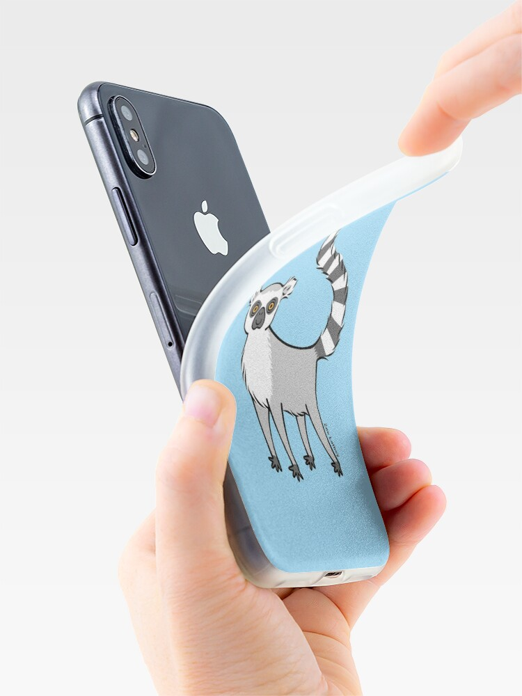 Alternate view of Ring Tailed Lemur iPhone Case & Cover