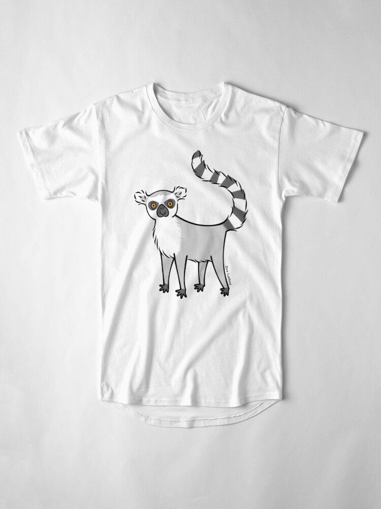 Alternate view of Ring Tailed Lemur Long T-Shirt