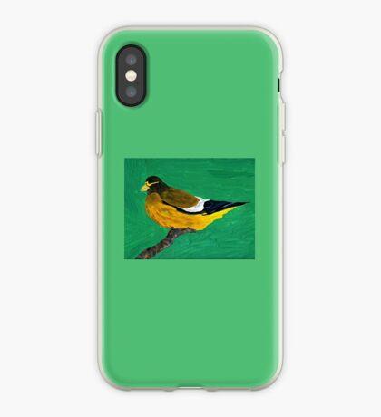 An Evening Grosbeak iPhone Case