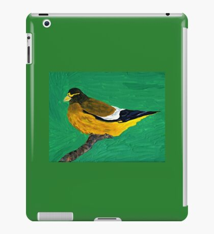 An Evening Grosbeak iPad Case/Skin