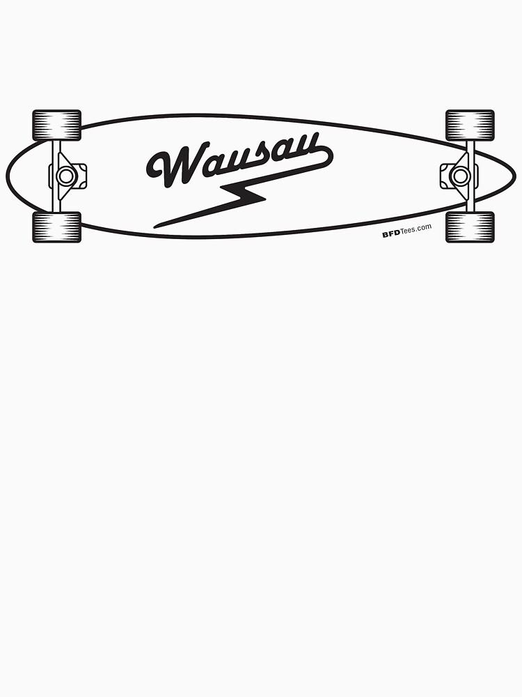 Skateboard: Wausau (Black) by bigfatdesigns