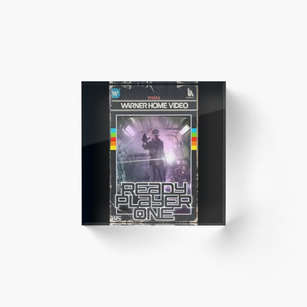 Ready Player One VHS Cover Acrylic Block