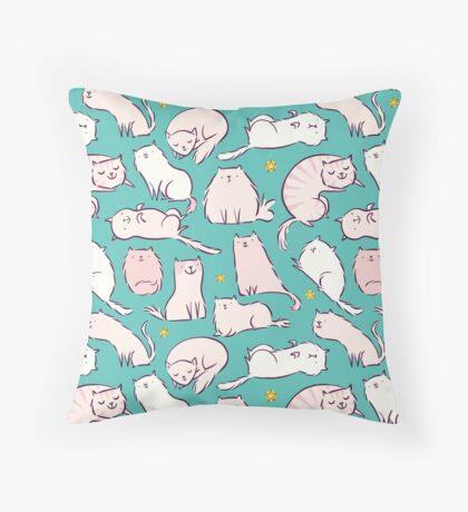 Cats & Stars Throw Pillow