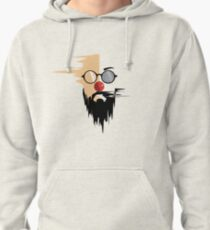 hipster face illustration. Pullover Hoodie