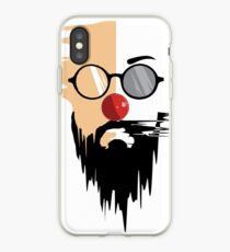 hipster face illustration. iPhone Case