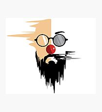 hipster face illustration. Photographic Print