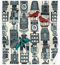 steampunk towers Poster