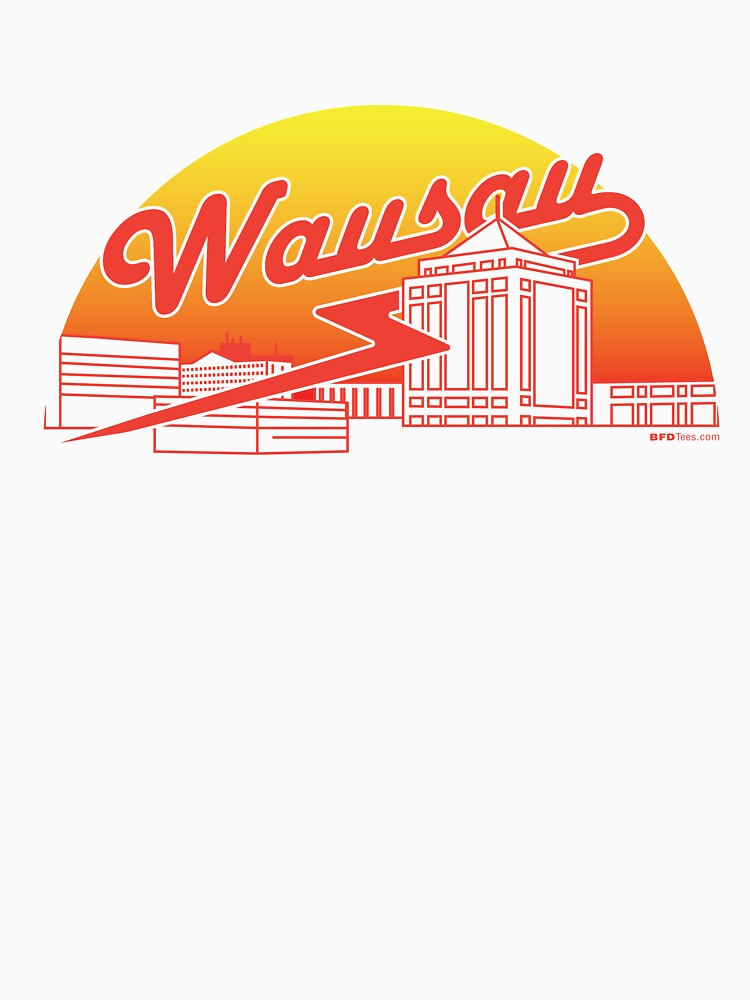 Wausau Skyline (Red) by bigfatdesigns