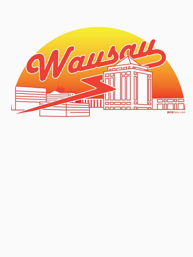 Wausau Skyline (Red) by bigfatdesigns