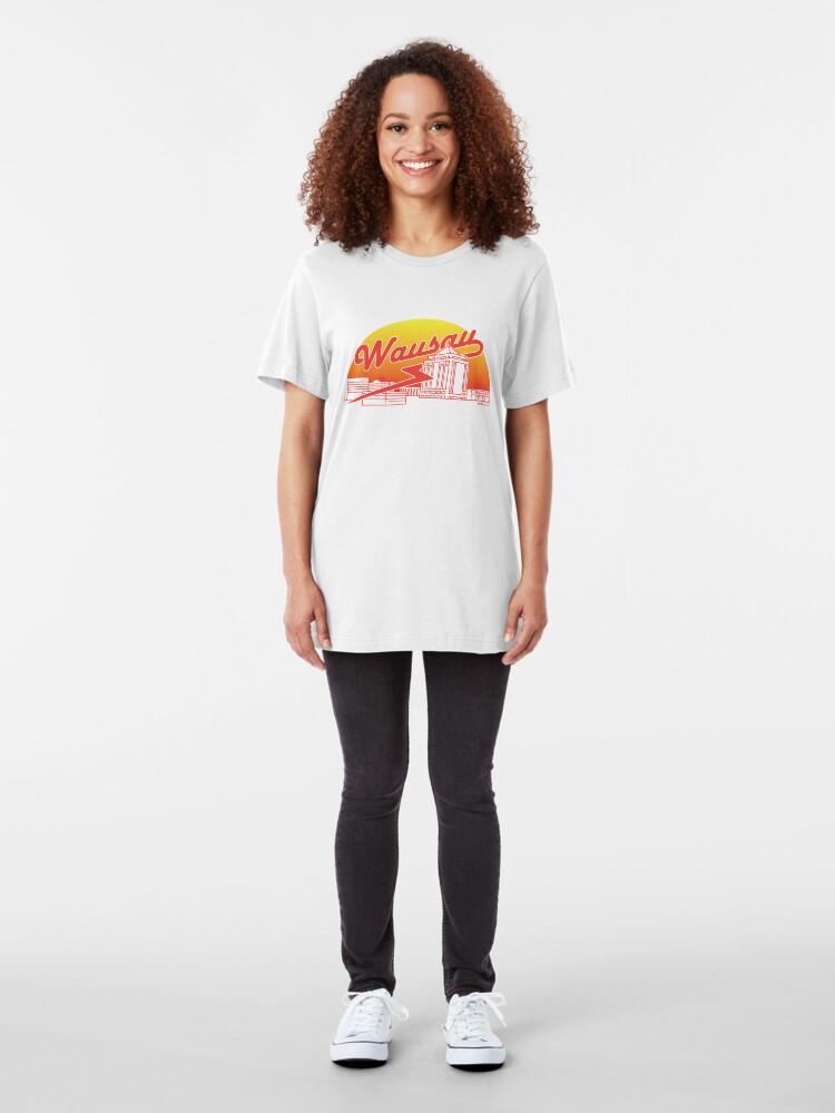 Alternate view of Wausau Skyline (Red) Slim Fit T-Shirt