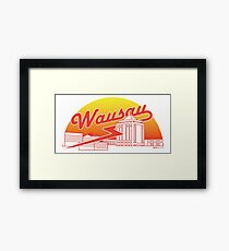 Wausau Skyline (Red) Framed Print