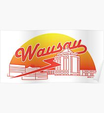 Wausau Skyline (Red) Poster