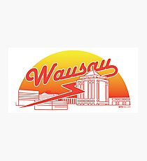 Wausau Skyline (Red) Photographic Print