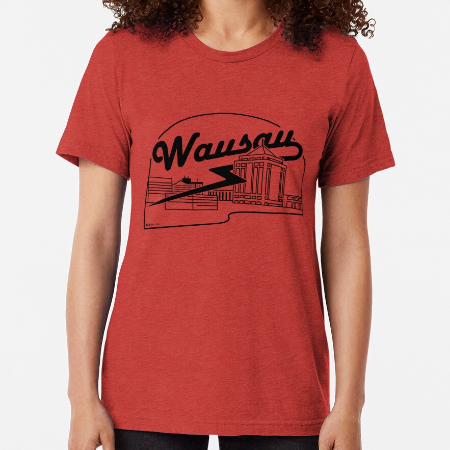 Wausau Skyline (Black) Tri-blend T-Shirt
