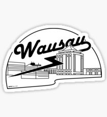 Wausau Skyline (Black) Glossy Sticker