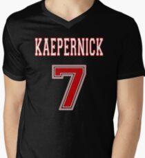 Kaepernick 7 RED Men's V-Neck T-Shirt