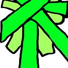 Put a bow on it - greens by HEVIFineart