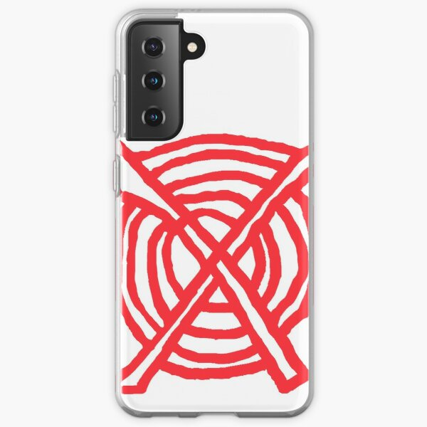 x marks the spot red Samsung Galaxy Soft Case