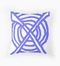 X Marks the Spot periwinkle blue Throw Pillow