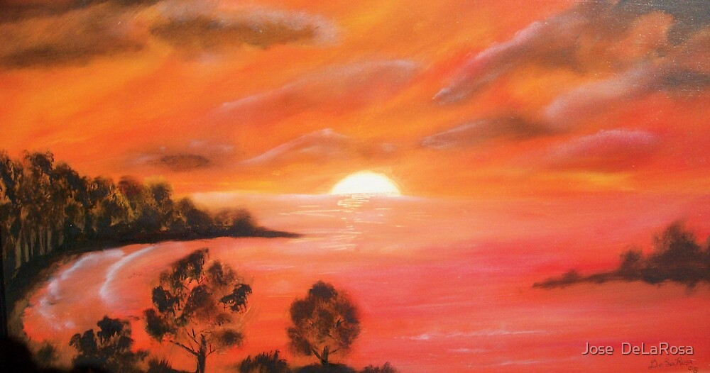 Ocean Sunset by Jose  DeLaRosa