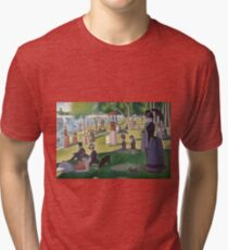 A Sunday Afternoon on the Island of La Grande Jatte by Georges Seurat Tri-blend T-Shirt