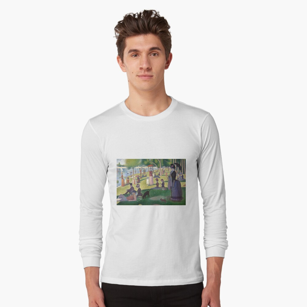 A Sunday Afternoon on the Island of La Grande Jatte by Georges Seurat Long Sleeve T-Shirt Front