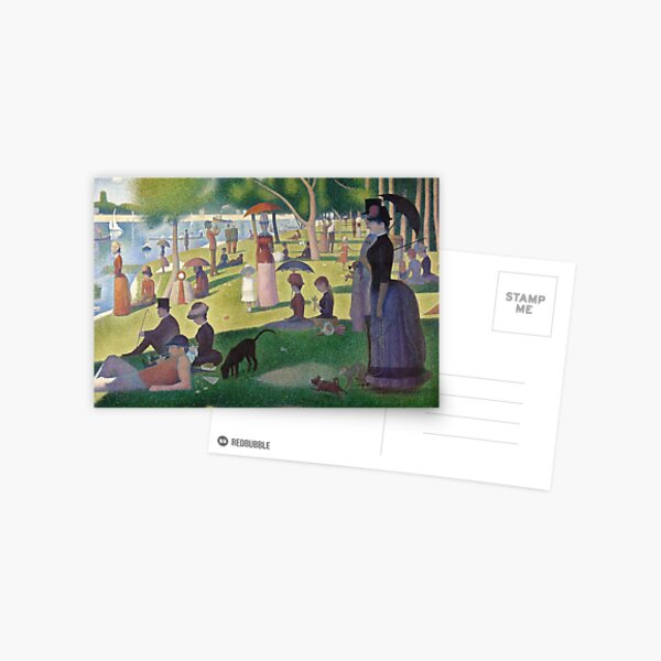 A Sunday Afternoon on the Island of La Grande Jatte by Georges Seurat Postcard