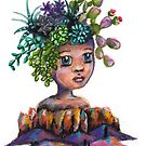 Desert Princes Watercolor Mixed Media Painting by fugitiverabbit