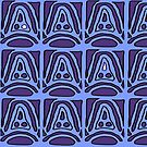 Mound design blue and purple pattern by HEVIFineart