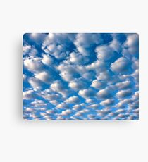 clouds perspective Canvas Print