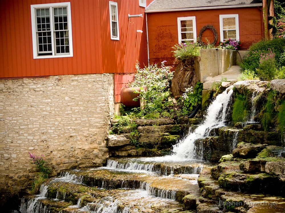 Gentle Waterfall by Stephen Almendinger