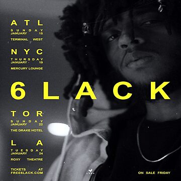 6lack Free 6lack tour by VeryRaree
