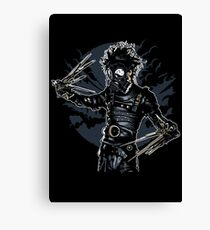 Gas Mask Scissors Canvas Print