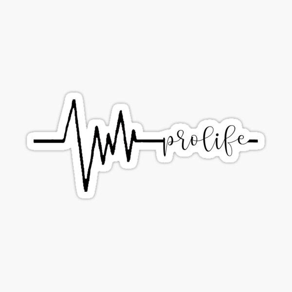 Pro-life Heartbeat Sticker
