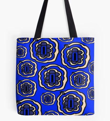 Blue and yellow floral pattern Tote Bag
