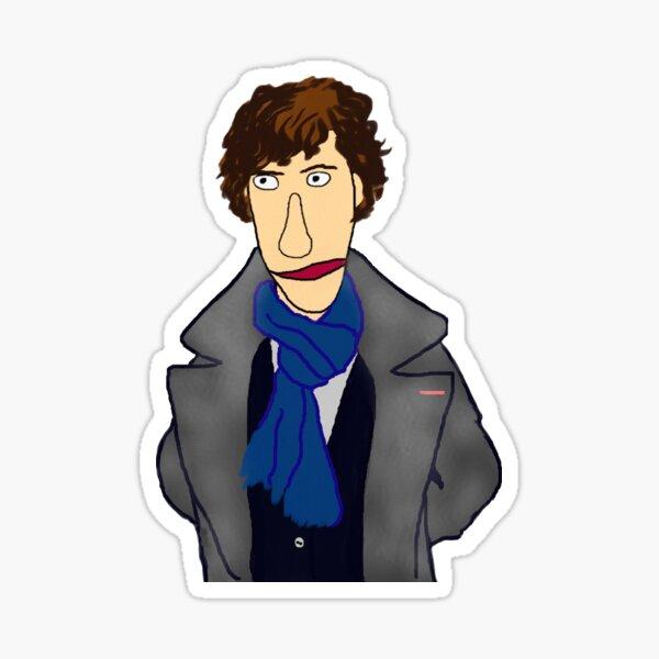 Sherlock Muppet Style Sticker