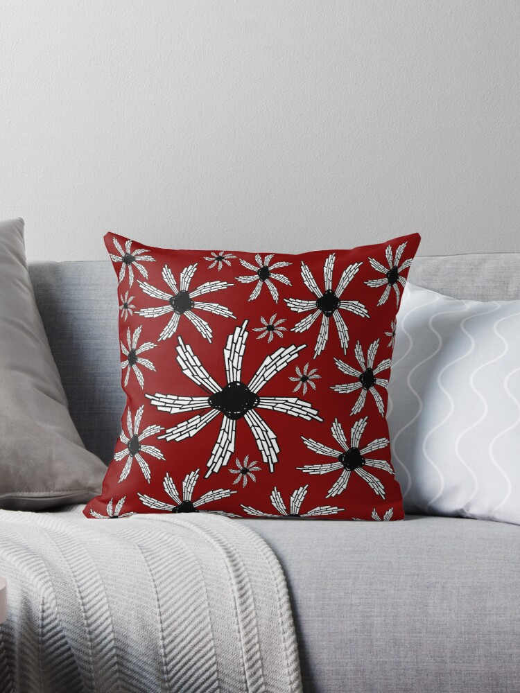 Red wine spiral wind catcher pattern by HEVIFineart