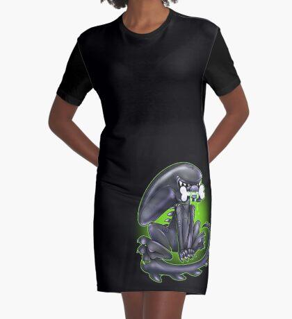 Alien Xeno Graphic T-Shirt Dress