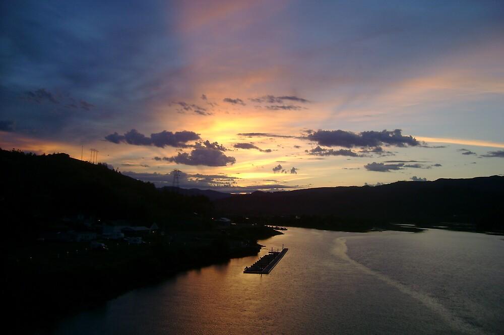 Sunrise Over The Rogue by Sheri Scherbarth